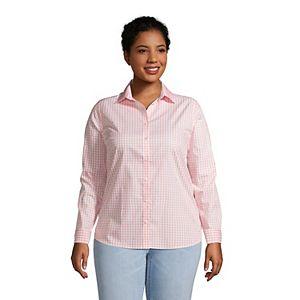 Plus Size Lands' End No Iron Supima Cotton Long Sleeve Shirt