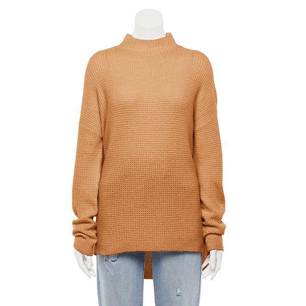 Juniors' SO® Mockneck Tunic Sweater