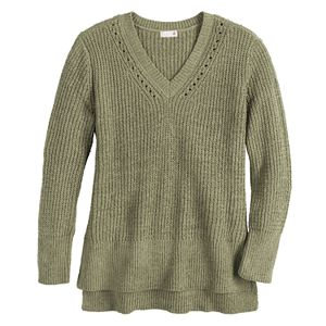 Juniors' SO® Drop Shoulder Chenille Sweater