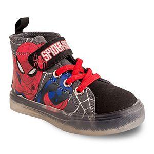 Marvel Spider-Man Toddler Boys' Light Up High Top Shoes