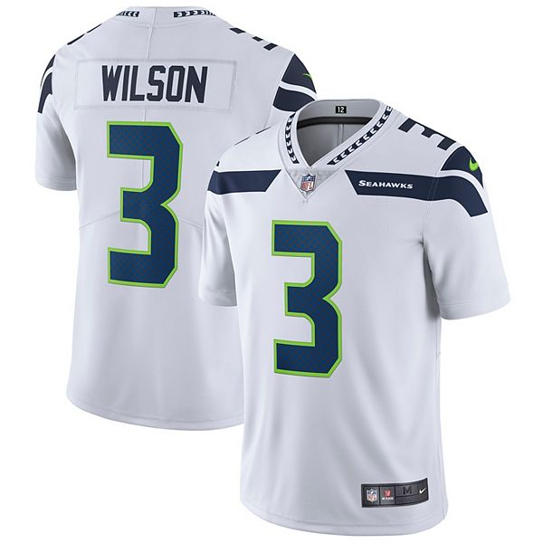 Men's Nike Russell Wilson White Seattle Seahawks Vapor Untouchable Limited Player Jersey