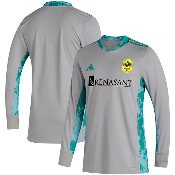 Men's adidas Gray Nashville SC 2020 Goalkeeper Long Sleeve Jersey