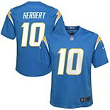 Youth Nike Justin Herbert Powder Blue Los Angeles Chargers 2020 NFL Draft First Round Pick Game Jersey