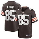 Men's Nike David Njoku Brown Cleveland Browns Game Player Jersey