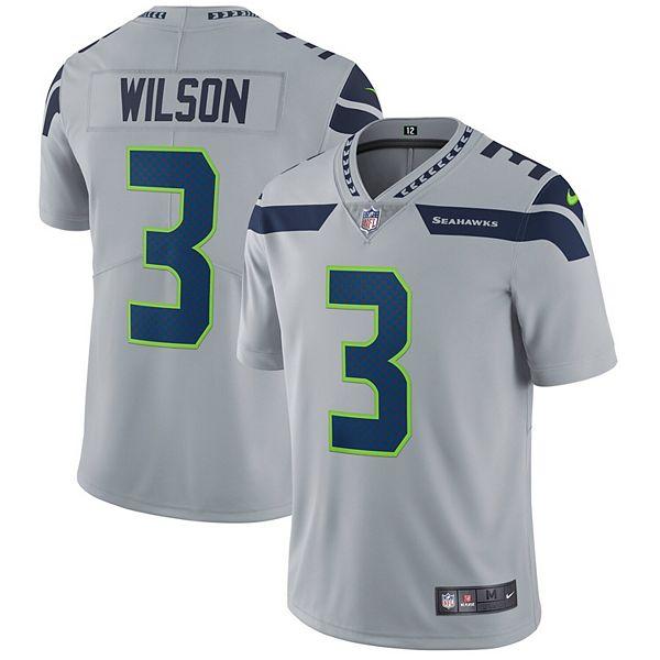 Men's Nike Russell Wilson Gray Seattle Seahawks Vapor Untouchable Limited Player Jersey