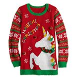Girls 7-16 It's Our Time Christmas Unicorn Tunic
