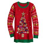 Girls 7-16 It's Our Time Christmas Tree Tunic