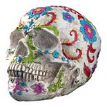 National Tree Company Embroidered Faux Skull Table Decor