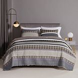 Barefoot Bungalow Gold Rush Gray Quilt Set