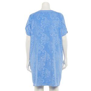 Plus Size Croft & Barrow® Embossed Terry Zip Robe