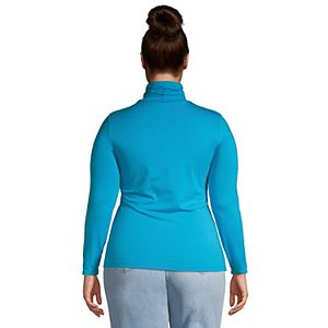 Plus Size Lands' End Lightweight Fitted Long Sleeve Turtleneck