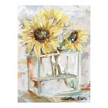 East Coast Graphic Sunflower Canvas Wall Art