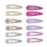 SO® Pink Tone & Glitter Snap Hair Clip Set