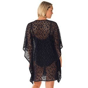 Women's PB Sport Lace-Up Sheer Lace Swim Cover-Up