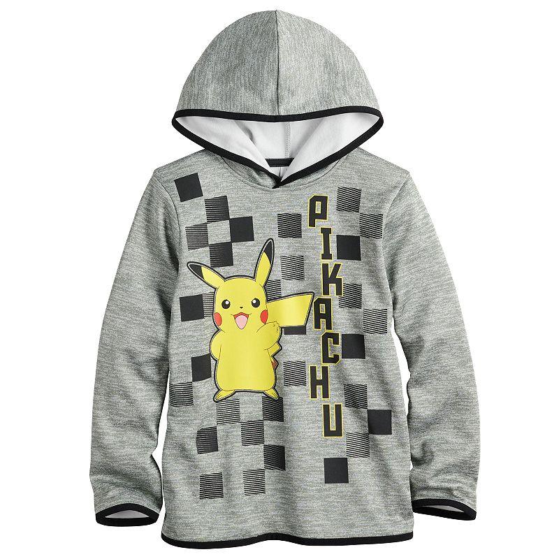 Boys 4-12 Jumping Beans Pokemon Pikachu Graphic Hoodie, Boy's, Med Grey