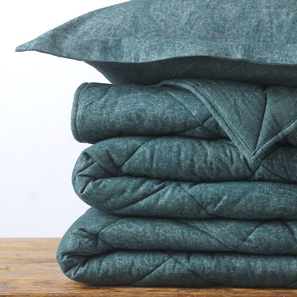 Lands End Velvet Flannel Paisley Comforter