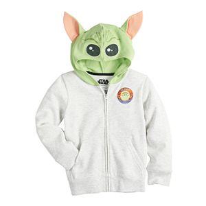 Boys 4-12 Jumping Beans® The Child aka Baby Yoda 3-D Ears Fleece Costume Zip Hoodie