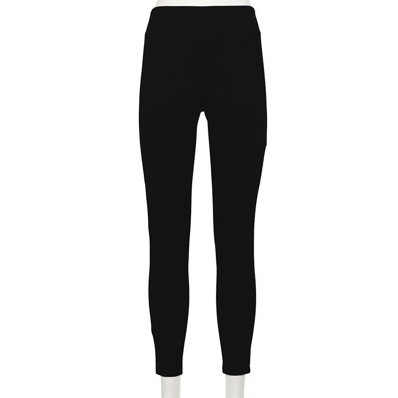 Women's Croft & Barrow Classic Solid Leggings. Size: XS. Black