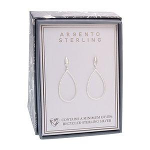 Argento Sterling Hammered Teardrop Earrings