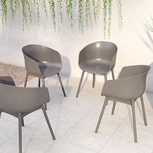 Novogratz Poolside York Indoor / Outdoor Dining Chair 2-piece Set