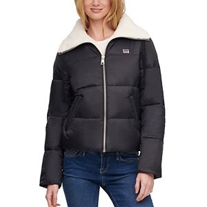Women's Levi's® Nylon Quilted Sherpa Lined Puffer Jacket
