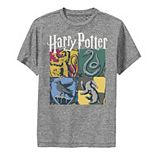 Boys 8-20 Harry Potter Hogwarts Houses Collage Graphic Tee