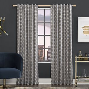 Scott Living Aubry Shimmering Floral 100 Blackout Back Tab 1 Panel Window Curtain