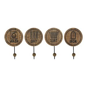 Stratton Home Decor 4-pack Laundry Room Hooks
