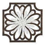 Stratton Home Decor White Flower Wood & Metal Wall Decor