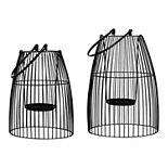 Stratton Home Decor 2-pack Black Metal Lanterns
