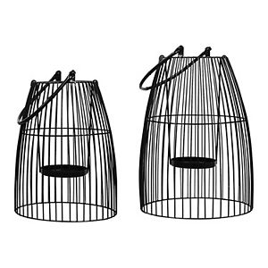 Stratton Home Decor 2-pack Black Metal Lanterns