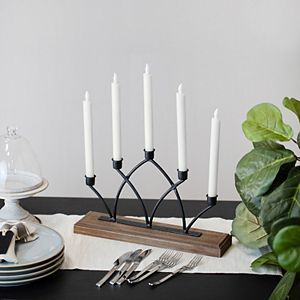 Stratton Home Decor Arched Metal Candelabra