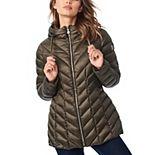 Women's B by Bernardo Packable Hooded Jacket