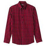 Big & Tall Lands' End Tailored-Fit Plaid Flagship Flannel Shirt