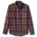 Big & Tall Lands' End Traditional-Fit Patterned Flagship Flannel Shirt
