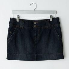 SO Denim Trouser Miniskirt