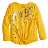 Toddler Girl Jumping Beans® Tie Front Long Sleeve Tee