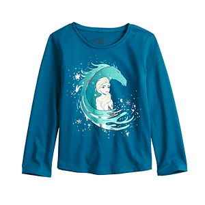 Disney's Frozen Elsa Toddler Girl Long Sleeve Shirttail Tee by Jumping Beans®