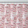Excell Div Love Words Shower Curtain