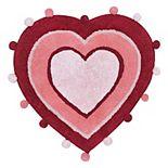 Celebrate Valentine's Day Together Heart Bath Rug