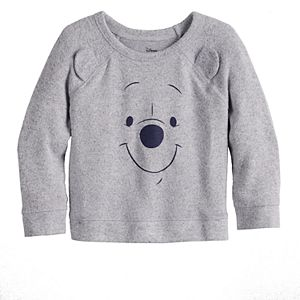 Disney's Winnie The Pooh Baby Girl Cozy Knit Raglan Tee by Jumping Beans®