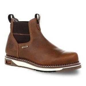 Georgia Boots Amp LT Men's Waterproof Steel Toe Chelsea Work Boots