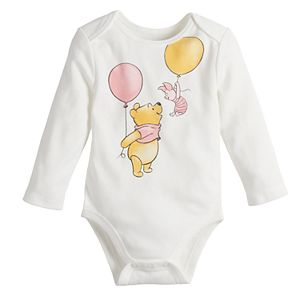 Disney's Winnie The Pooh Baby Girl Piglet & Pooh Rib Bodysuit by Jumping Beans®