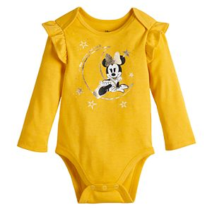 Disney's Minnie Mouse Baby Girl Lap Shoulder Bodysuit by Jumping Beans®