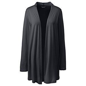 Plus Size Lands' End Lightweight Jersey Knit Long Cardigan Sweater