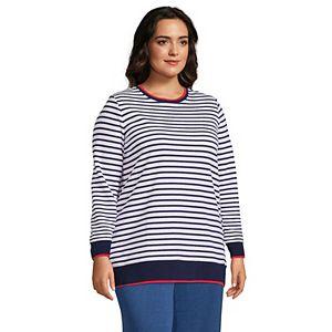 Plus Size Lands' End Serious Sweats Crewneck Long Sleeve Sweatshirt Tunic