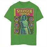 Boys 8-20 Netflix Stranger Things Group Shot Comic Cover Graphic Tee
