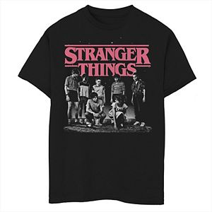 Boys 8-20 Stranger Things Faded Cast Poster Graphic Tee