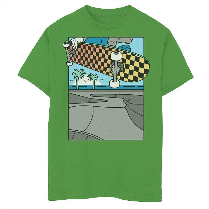 Boys 8-20 Fifth Sun Skate Park Grab Graphic Tee, Boy's, Size: Medium, Green