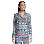 Petite Lands' End Long Sleeve Flannel Pajama Top